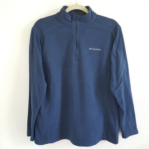 Columbia Half Zip Pullover Fleece Sweater Jacket in Blue Men/'s Medium